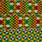 African Print-Green, Yellow, & Red